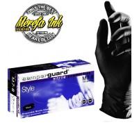 Перчатки SEMPER-GUARD черный нитриловые / 100p